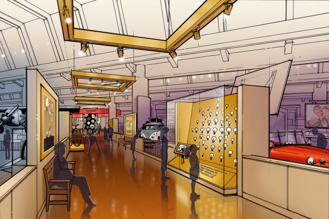 Master Plan shows new exhibition areas, improved circulation, and visitor amenities.